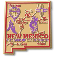 """New Mexico Giant State Magnet by Classic Magnets, 2.8"""" x 3.1"""", Collectible Souvenirs Made in the USA"""