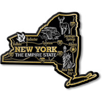 """New York Giant State Magnet by Classic Magnets, 4.5"""" x 3.5"""", Collectible Souvenirs Made in the USA"""