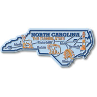 """North Carolina Giant State Magnet by Classic Magnets, 5.4"""" x 2.2"""", Collectible Souvenirs Made in the USA"""