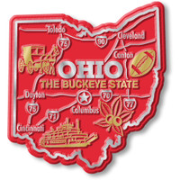"""Ohio Giant State Magnet by Classic Magnets, 3"""" x 3.3"""", Collectible Souvenirs Made in the USA"""