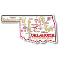 """Oklahoma Giant State Magnet by Classic Magnets, 4.5"""" x 2.4"""", Collectible Souvenirs Made in the USA"""