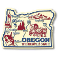"""Oregon Giant State Magnet by Classic Magnets, 3.5"""" x 2.6"""", Collectible Souvenirs Made in the USA"""
