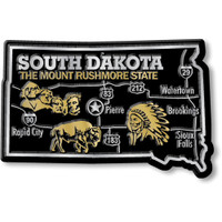 """South Dakota Giant State Magnet by Classic Magnets, 3.6"""" x 2.4"""", Collectible Souvenirs Made in the USA"""