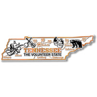 """Tennessee Giant State Magnet by Classic Magnets, 5.9"""" x 1.7"""", Collectible Souvenirs Made in the USA"""