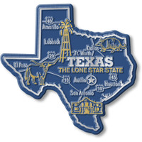 """Texas Giant State Magnet by Classic Magnets, 3.9"""" x 3.7"""", Collectible Souvenirs Made in the USA"""
