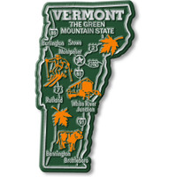 """Vermont Giant State Magnet by Classic Magnets, 2.5"""" x 4.3"""", Collectible Souvenirs Made in the USA"""
