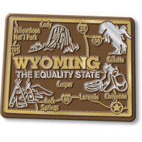 """Wyoming Giant State Magnet by Classic Magnets, 3.2"""" x 2.5"""", Collectible Souvenirs Made in the USA"""