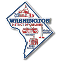 """Washington, D.C. Giant State Magnet by Classic Magnets, 3.6"""" x 4.3"""", Collectible Souvenirs Made in the USA"""