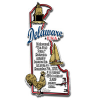 """Delaware Information State Magnet by Classic Magnets, 1.9"""" x 4"""", Collectible Souvenirs Made in the USA"""