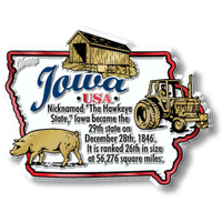 """Iowa Information State Magnet by Classic Magnets, 3.2"""" x 2.4"""", Collectible Souvenirs Made in the USA"""