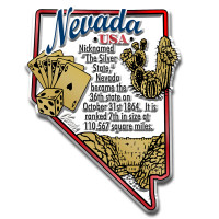 """Nevada Information State Magnet by Classic Magnets, 2.3"""" x 3.2"""", Collectible Souvenirs Made in the USA"""