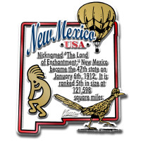 """New Mexico Information State Magnet by Classic Magnets, 2.3"""" x 2.8"""", Collectible Souvenirs Made in the USA"""