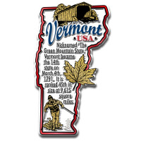 """Vermont Information State Magnet by Classic Magnets, 2"""" x 3.5"""", Collectible Souvenirs Made in the USA"""