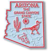 """Arizona Small State Magnet by Classic Magnets, 1.7"""" x 1.9"""", Collectible Souvenirs Made in the USA"""