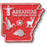 """Arkansas Small State Magnet by Classic Magnets, 1.9"""" x 1.7"""", Collectible Souvenirs Made in the USA"""