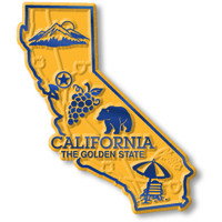 """California Small State Magnet by Classic Magnets, 2.1"""" x 2.5"""", Collectible Souvenirs Made in the USA"""