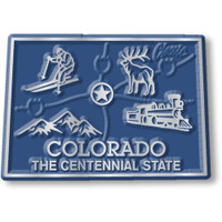 """Colorado Small State Magnet by Classic Magnets, 2.1"""" x 1.5"""", Collectible Souvenirs Made in the USA"""