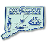 """Connecticut Small State Magnet by Classic Magnets, 2.3"""" x 1.7"""", Collectible Souvenirs Made in the USA"""