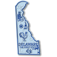 """Delaware Small State Magnet by Classic Magnets, 1.5"""" x 3.2"""", Collectible Souvenirs Made in the USA"""
