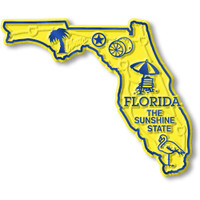 """Florida Small State Magnet by Classic Magnets, 2.9"""" x 2.4"""", Collectible Souvenirs Made in the USA"""