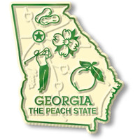 """Georgia Small State Magnet by Classic Magnets, 1.8"""" x 2.1"""", Collectible Souvenirs Made in the USA"""