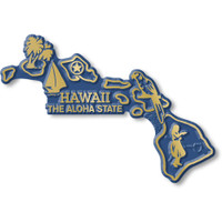 """Hawaii Small State Magnet by Classic Magnets, 3.4"""" x 2.4"""", Collectible Souvenirs Made in the USA"""