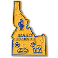 """Idaho Small State Magnet by Classic Magnets, 1.7"""" x 2.7"""", Collectible Souvenirs Made in the USA"""