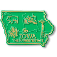 """Iowa Small State Magnet by Classic Magnets, 2.3"""" x 1.6"""", Collectible Souvenirs Made in the USA"""