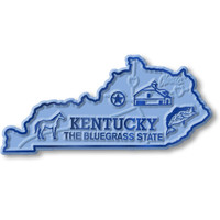 """Kentucky Small State Magnet by Classic Magnets, 2.9"""" x 1.4"""", Collectible Souvenirs Made in the USA"""