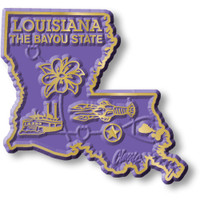 """Louisiana Small State Magnet by Classic Magnets, 2.2"""" x 2.1"""", Collectible Souvenirs Made in the USA"""