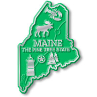"""Maine Small State Magnet by Classic Magnets, 1.8"""" x 2.6"""", Collectible Souvenirs Made in the USA"""