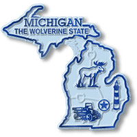 """Michigan Small State Magnet by Classic Magnets, 2.4"""" x 2.3"""", Collectible Souvenirs Made in the USA"""