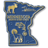 """Minnesota Small State Magnet by Classic Magnets, 2"""" x 2.2"""", Collectible Souvenirs Made in the USA"""