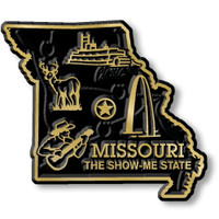 """Missouri Small State Magnet by Classic Magnets, 2.2"""" x 1.9"""", Collectible Souvenirs Made in the USA"""