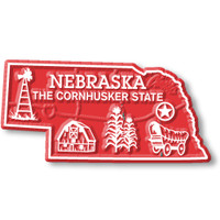"""Nebraska Small State Magnet by Classic Magnets, 2.4"""" x 1.2"""", Collectible Souvenirs Made in the USA"""