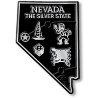 """Nevada Small State Magnet by Classic Magnets, 1.5"""" x 2.2"""", Collectible Souvenirs Made in the USA"""
