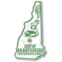 """New Hampshire Small State Magnet by Classic Magnets, 1.6"""" x 2.9"""", Collectible Souvenirs Made in the USA"""