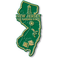"""New Jersey Small State Magnet by Classic Magnets, 1.3"""" x 2.9"""", Collectible Souvenirs Made in the USA"""