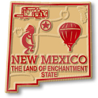 """New Mexico Small State Magnet by Classic Magnets, 1.7"""" x 1.8"""", Collectible Souvenirs Made in the USA"""