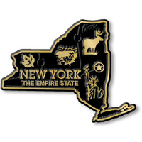"""New York Small State Magnet by Classic Magnets, 2.8"""" x 2.1"""", Collectible Souvenirs Made in the USA"""