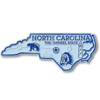 """North Carolina Small State Magnet by Classic Magnets, 3.3"""" x 1.3"""", Collectible Souvenirs Made in the USA"""