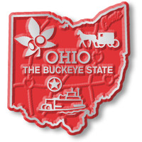 """Ohio Small State Magnet by Classic Magnets, 1.7"""" x 1.8"""", Collectible Souvenirs Made in the USA"""