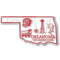 """Oklahoma Small State Magnet by Classic Magnets, 2.7"""" x 1.4"""", Collectible Souvenirs Made in the USA"""