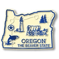 """Oregon Small State Magnet by Classic Magnets, 2.1"""" x 1.5"""", Collectible Souvenirs Made in the USA"""