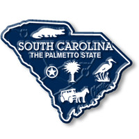 """South Carolina Small State Magnet by Classic Magnets, 2.3"""" x 1.9"""", Collectible Souvenirs Made in the USA"""