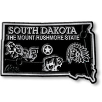 """South Dakota Small State Magnet by Classic Magnets, 2.2"""" x 1.4"""", Collectible Souvenirs Made in the USA"""