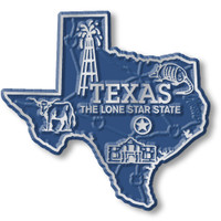 """Texas Small State Magnet by Classic Magnets, 2.3"""" x 2.2"""", Collectible Souvenirs Made in the USA"""