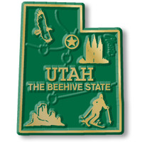 """Utah Small State Magnet by Classic Magnets, 1.5"""" x 1.9"""", Collectible Souvenirs Made in the USA"""
