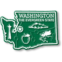 """Washington Small State Magnet by Classic Magnets, 2.1"""" x 1.4"""", Collectible Souvenirs Made in the USA"""