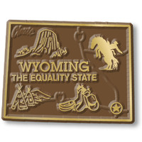 """Wyoming Small State Magnet by Classic Magnets, 1.9"""" x 2"""", Collectible Souvenirs Made in the USA"""